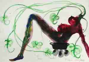 Barthelemy Toguo_Peace March_watercolour on paper_28.5×38.5cm_2002-2003