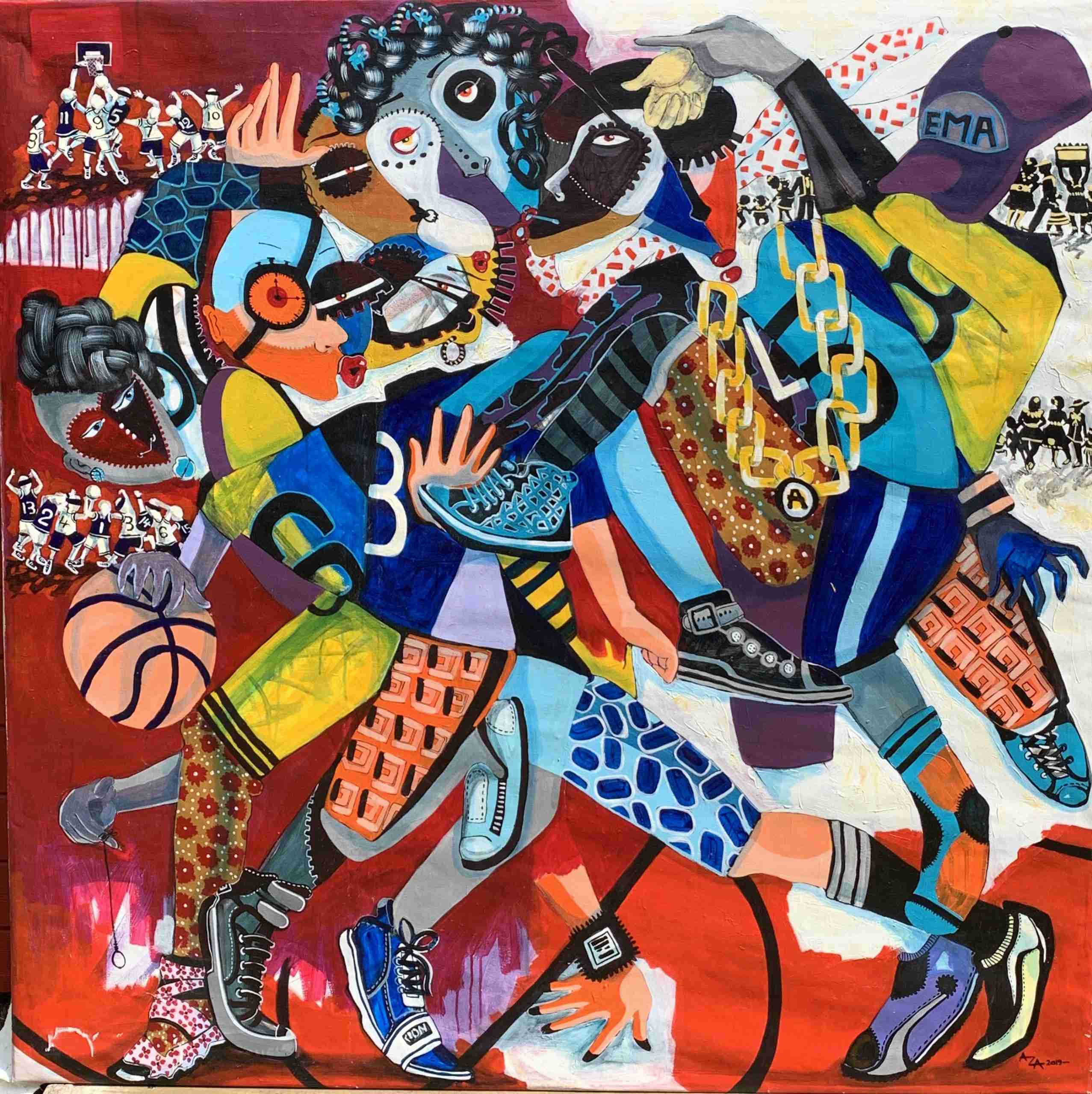ENDURANCE (2019) BY AZA MANSONGI Acrylic on Canvas 120cm x 120cm